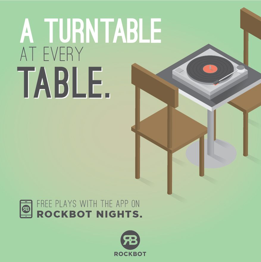 Sponsor Rockbot Happy Hour at Your Bar