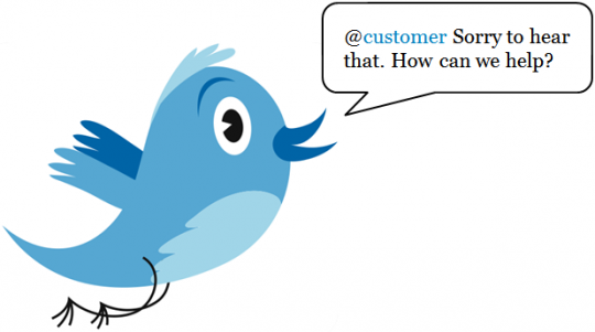 customer service social media tips