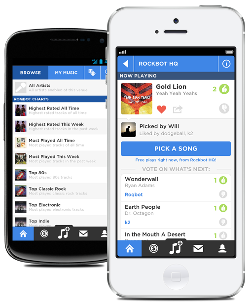 New Rockbot Jukebox App for iOS and Android