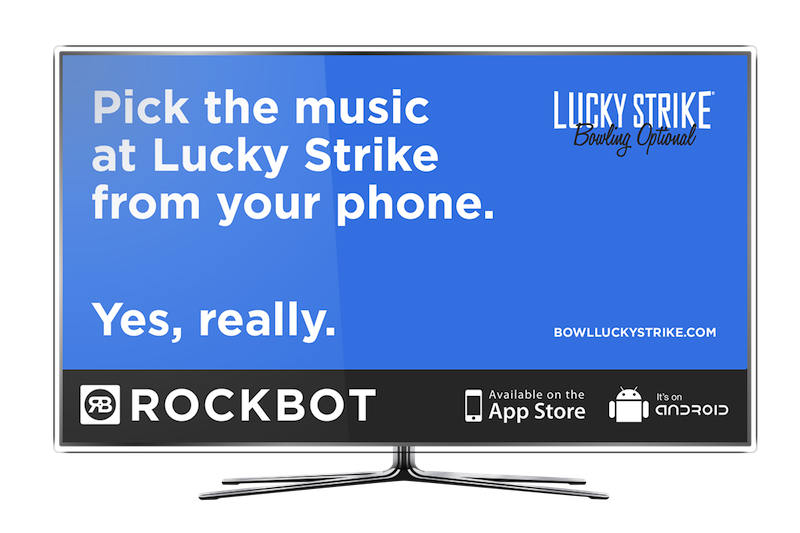 rockbot lucky strike tv