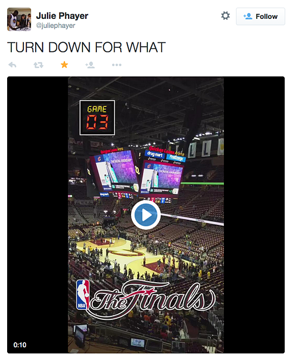 Cleveland Cavaliers Fans Scale Walls To Get Photos Of Nba: Cleveland Cavaliers And Rockbot Let Fans DJ The Music At