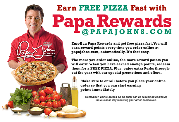 Papa Johns Restaurant Loyalty Program - PapaRewards