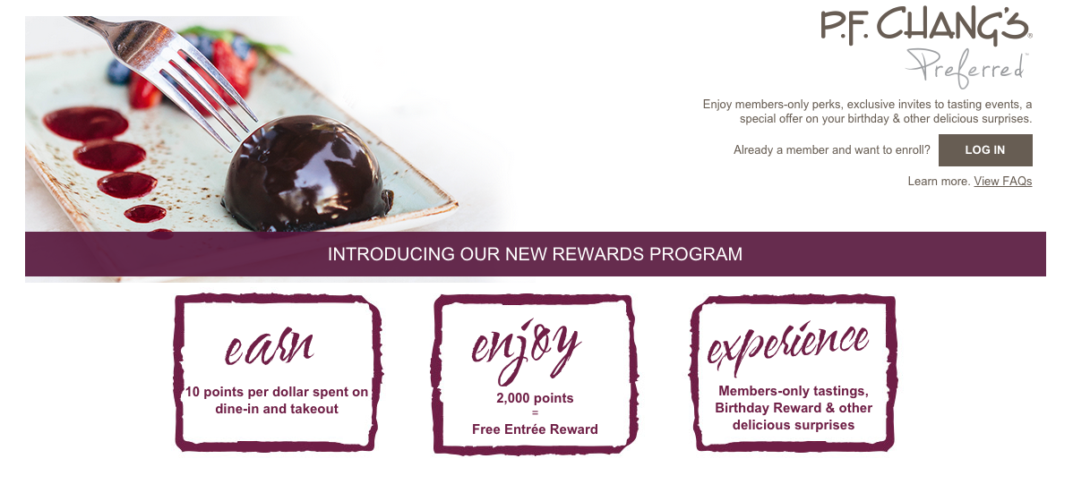 PF Changs Restaurant Loyalty Program